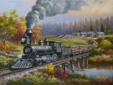 Train Engine 36 Wall Mural