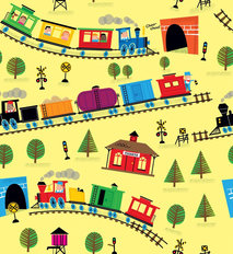 Trains - Yellow Wallpaper
