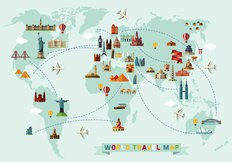Travel The World Map Wallpaper Mural
