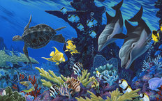 Treasures of the Sea (Apollo) Wall Mural