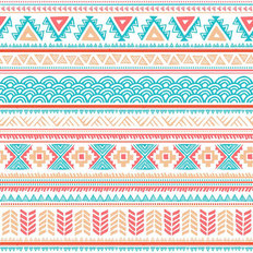 Multi Ethnic Pattern Wallpaper