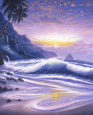 Tropic Sunrise Wall Mural
