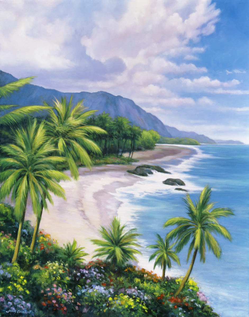 Tropical Breezes Mural Wallpaper