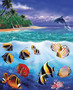 Tropical Fish Island 2 Wallpaper Mural