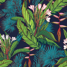 Tropical Jungle Print Wallpaper