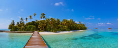 Tropical Maldives Island Wall Mural