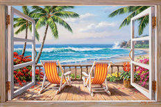 Tropical Terrace for Two Wall Mural