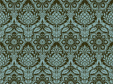 Tropical Welcome Damask Wallpaper