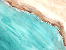 Turquoise Waters Mural Wallpaper