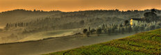Tuscan Hills And Villa Mural Wallpaper