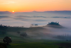 Tuscan Sunrise Wallpaper Mural