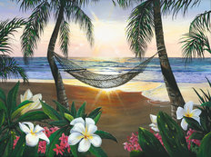 Twilight Hammock Wallpaper Mural