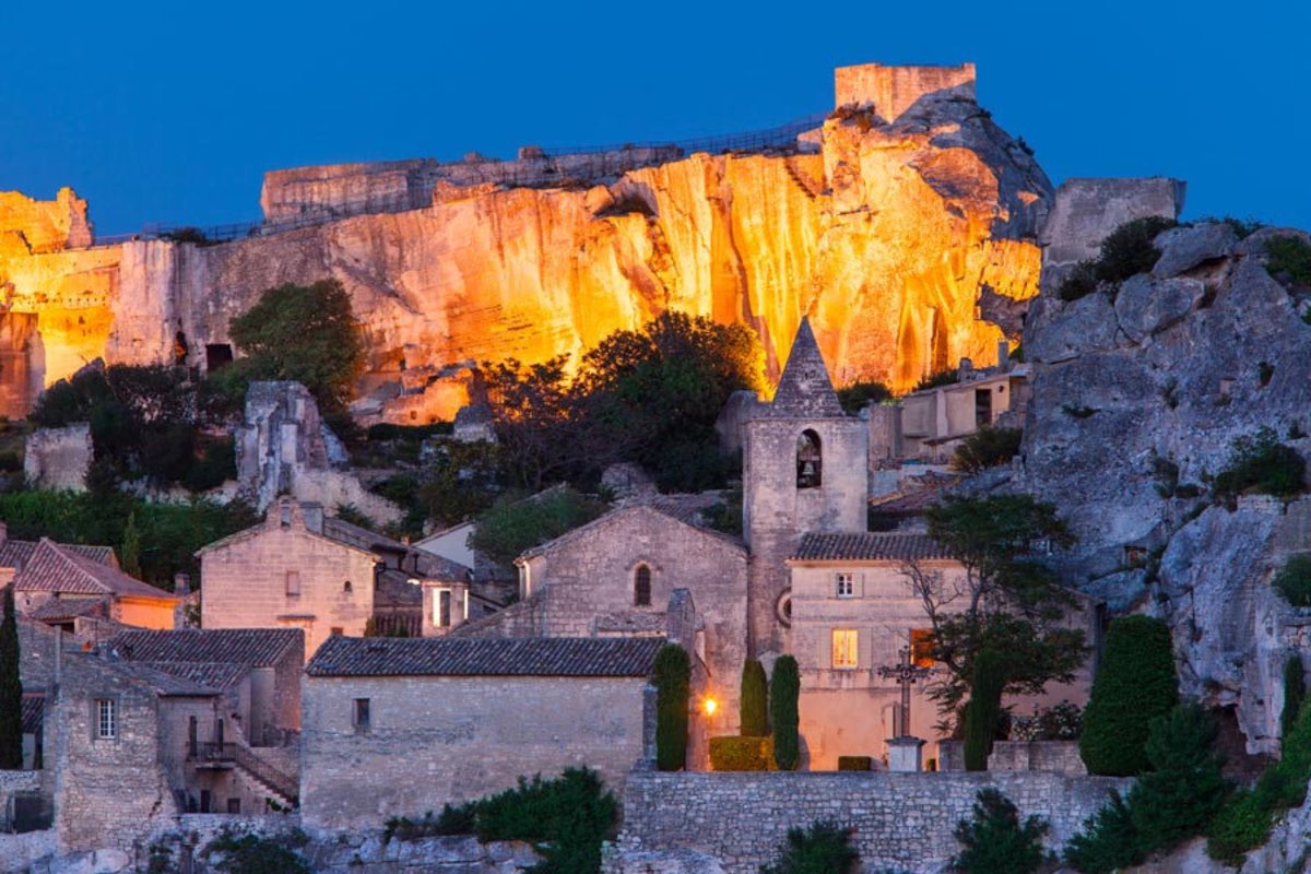 Twilight Over Les Baux Wall Mural