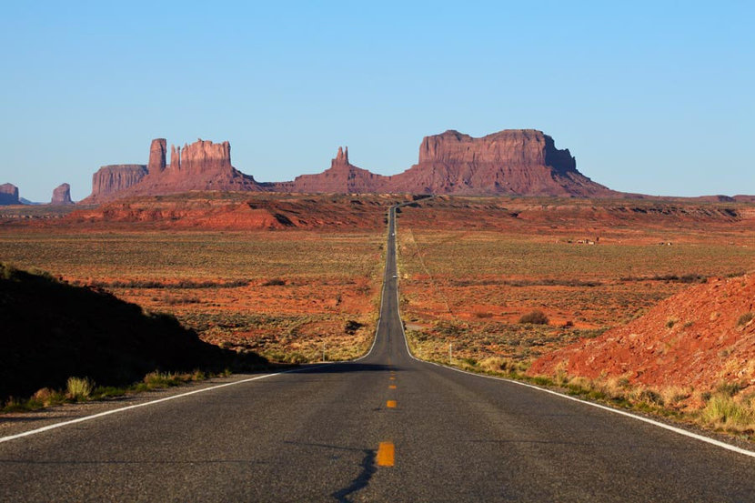 U.S. Route 163 to Monument Valley Mural Wallpaper