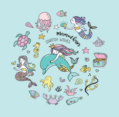 Under The Sea Mermaid Wall Mural