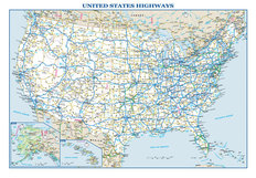 USA Highways Map Wall Mural