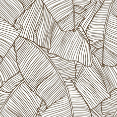 Banana Leaf Lines Pattern Wallpaper
