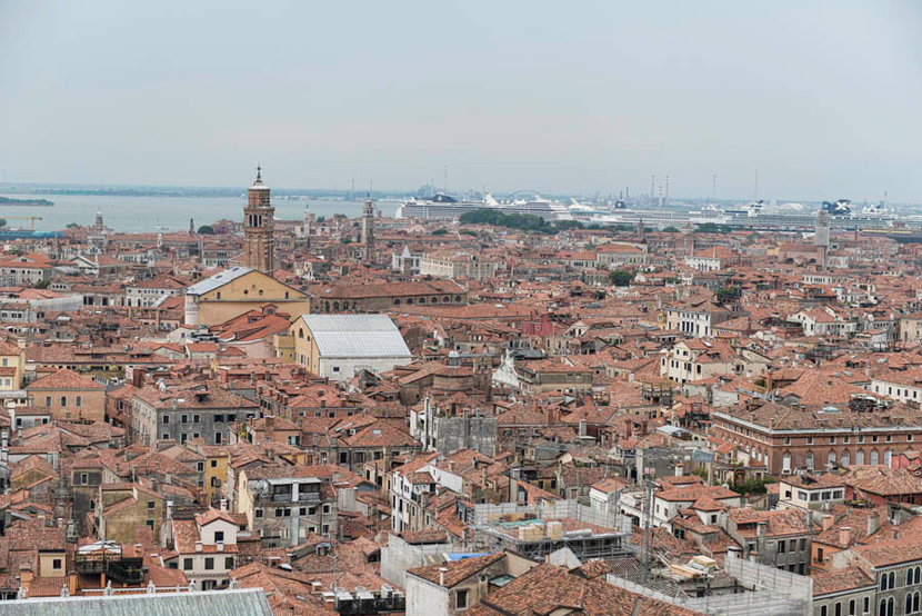 Venice Italy from the Bell Tower  Mural Wallpaper