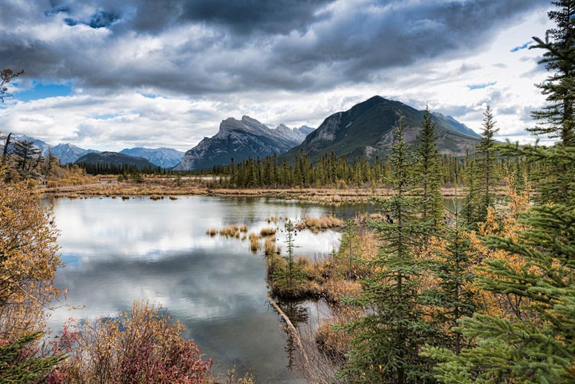 Vermilion Lakes and Mount Rundle 2 Wall Mural