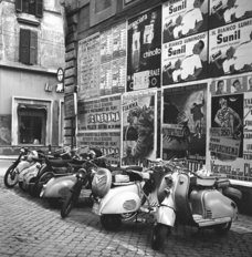 Vespas In Rome Mural Wallpaper