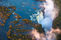 Aerial View of Victoria Falls Wallpaper Mural