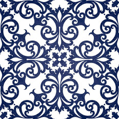 Victorian Damask Pattern Wallpaper