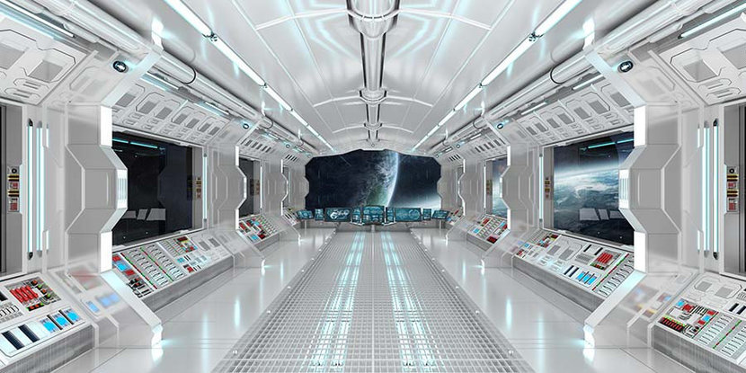 View From Inside Space Ship Wall Mural