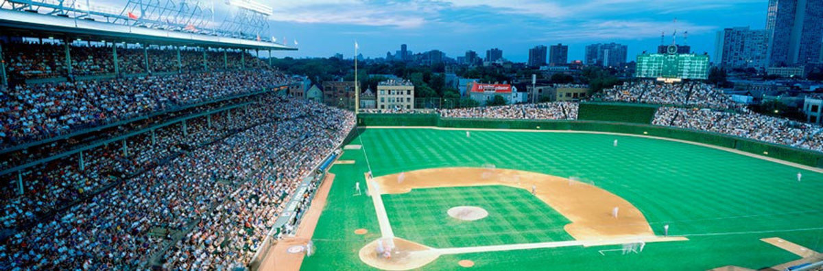 View From Inside Wrigley Field Wall Mural