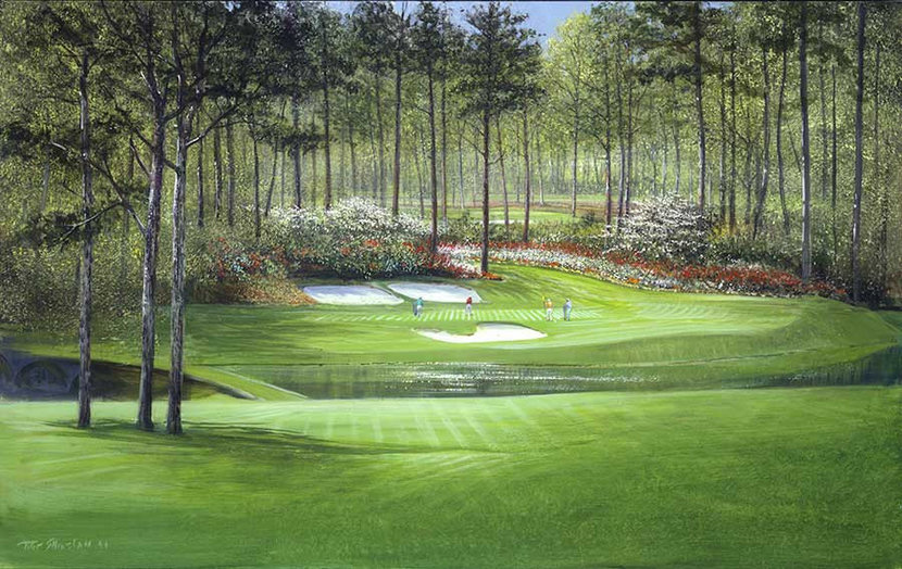 View From The 12th Hole Tee Box At Augusta Wall Mural