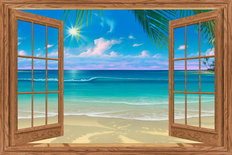 View of Paradise Wallpaper Mural