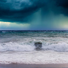 Stormy Seascape Mural Wallpaper