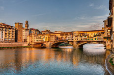 Ponte Vecchio Bridge Mural Wallpaper
