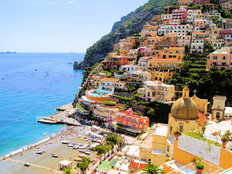 View Of The Town Of Positano, Amalfi Coast, Italy Wall Mural