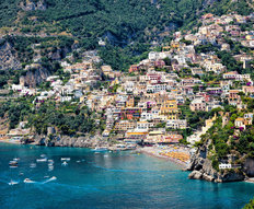 View of The Town of Positano Mural Wallpaper