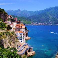View of The Village of Atrani, Amalfi Coast, Italy Wall Mural