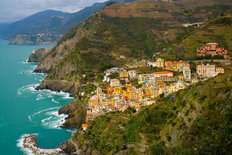Village of Riomaggiore, Italy  Wallpaper Mural