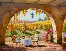 Vineyard for Two Wallpaper Mural