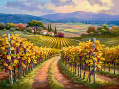 Vineyard Hill I Wallpaper Mural