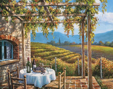 Vineyard Terrace Mural Wallpaper