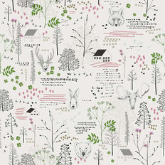 Vintage Animal Pattern Wallpaper