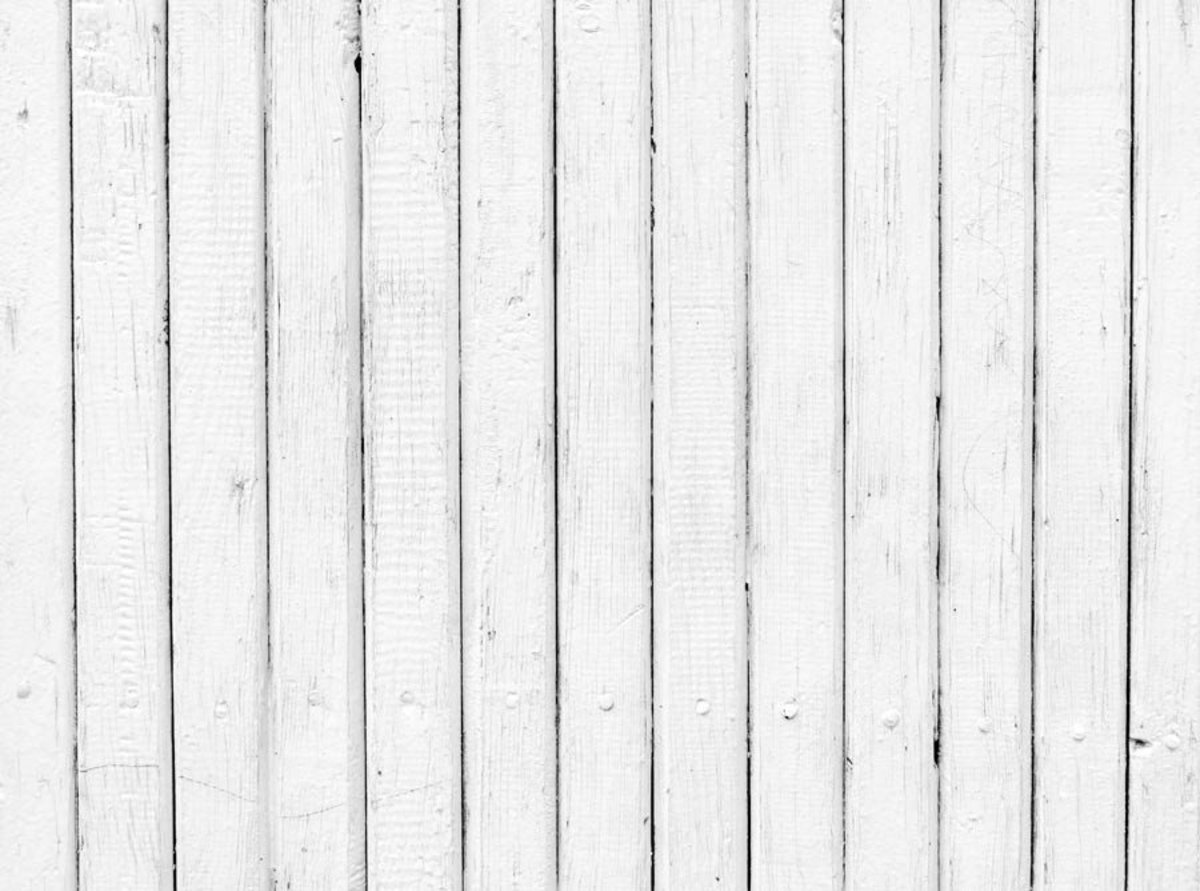Weathered White Wood Planks