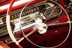 Vintage Car Interior Mural Wallpaper