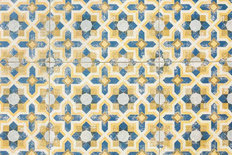 Vintage Floor Tile Mural Wallpaper