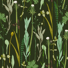 Vintage Herbal Pattern Wallpaper
