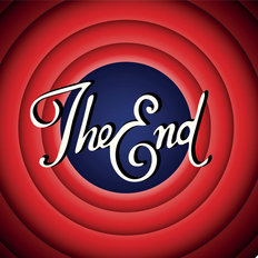 The End - Vintage Movie Screen Mural Wallpaper
