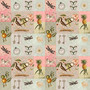 Vintage Patchwork Birds Mural Wallpaper