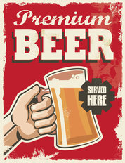 Beer Served Here Poster Wallpaper Mural