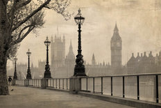 Vintage View of Big Ben in London Wall Mural