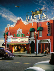 Vista Theater Wallpaper Mural