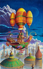 Voyage Of The Flying Griffen Wallpaper Mural